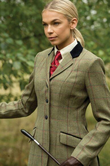 Equetech Launton Tweed Jacket Green
