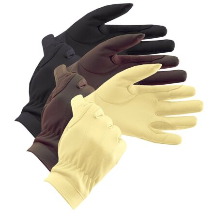 Equetech Leather Show Gloves Brown
