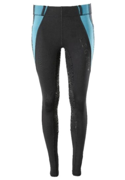Legacy Riding Tights - Black/Turquoise