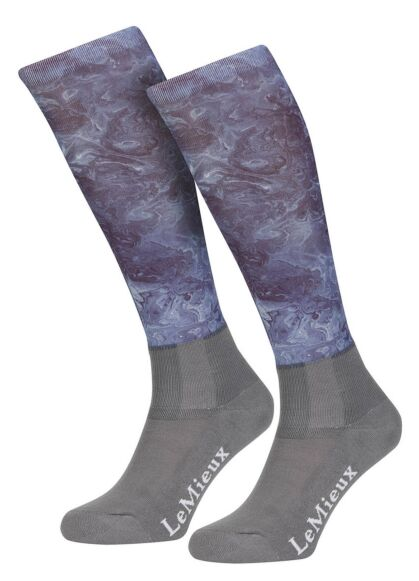 LeMieux Glacé Socks Junior Navy