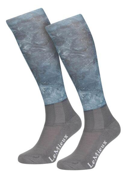 LeMieux Glacé Socks Junior Sage