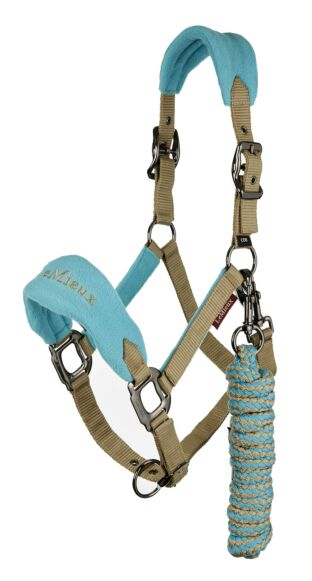 LeMieux Vogue Fleece Headcollar & Leadrope Azure