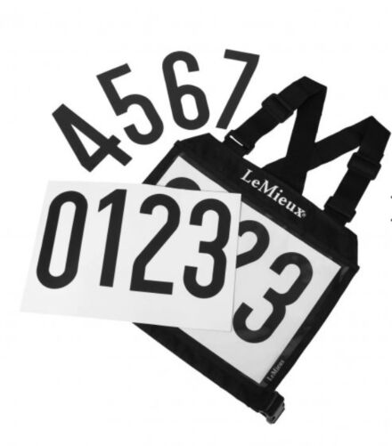 Eventing Bib with Magnetic Numbers Black