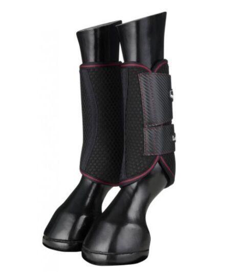 LeMieux Carbon Mesh Wrap Boots Black/Mulberry