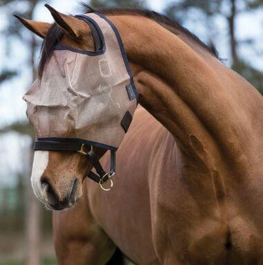 Horseware Mio Fly Mask Navy/ Bronze