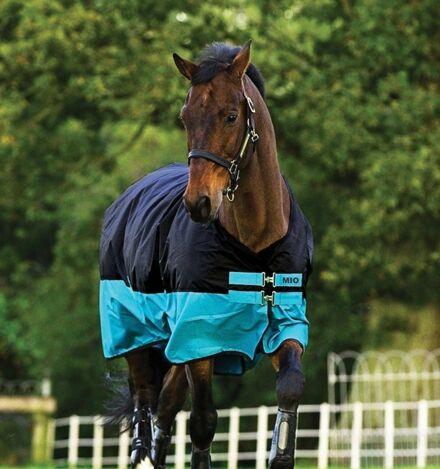 Horseware Mio Turnout Medium 200g Black & Turq