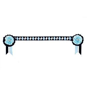 Showquest Browband Newport Navy, Blue, Silver