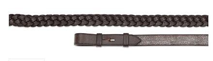 "Aviemore Plaited Leather Reins Havana 54"" x 5/8"""