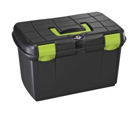Tack Box - Medium Black/Pistashio