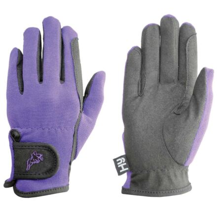 Hy5 Children's Every Day Two Tone Riding Gloves Black/Purple