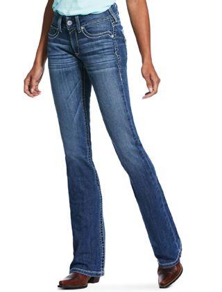 Ariat R.E.A.L. Mid Rise Stretch Hannah Boot Cut Jean