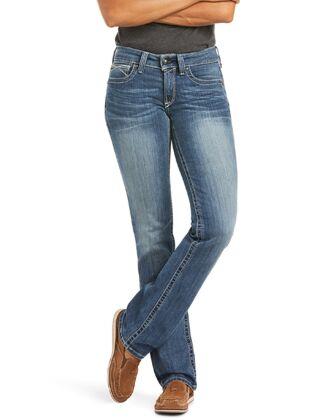 Ariat Women's R.E.A.L Straight Icon Jeans Rainstorm