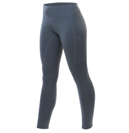 Equetech Revolution Riding Tights- Blue Slate