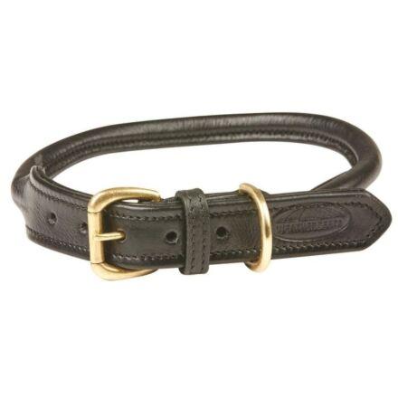 WeatherBeeta Rolled Leather Dog Collar Black