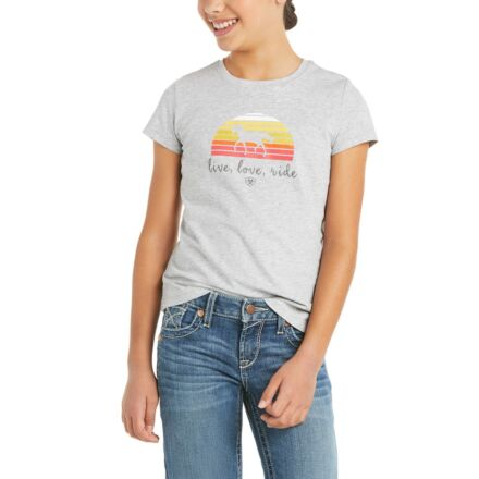 Ariat Youth Live Love Ride T-Shirt Grey