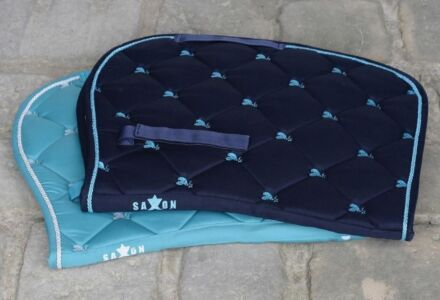 Saxon Dove All Purpose Saddle Pad Navy/Light Blue