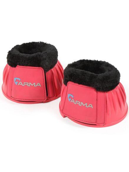 Shires Arma Fleece Top Overreach Boots- Pink