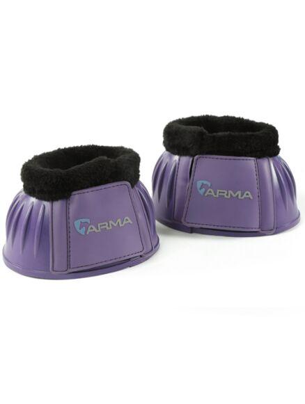 Shires Arma Fleece Top Overreach Boots- Purple