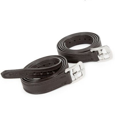 Shires Easy Care Non-Stretch Stirrup Leathers Havana