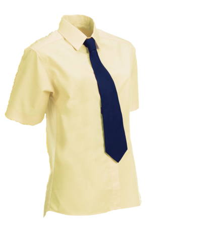 Equetech Junior Stretch Show Shirt Soft Yellow