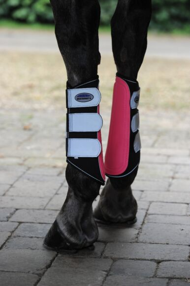 Weatherbeeta Reflective Single Lock Brushing Boots Pink