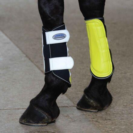 Weatherbeeta Reflective Single Lock Brushing Boots Yellow