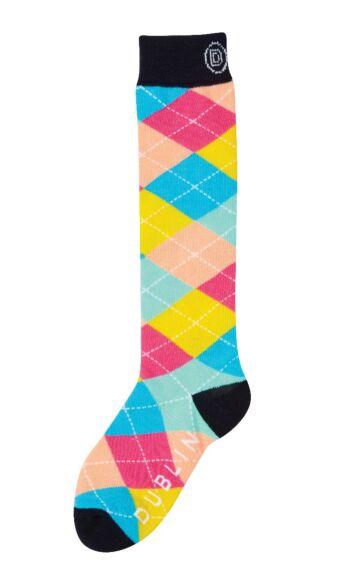 Dublin Single Pack Socks Argyle Rainbow