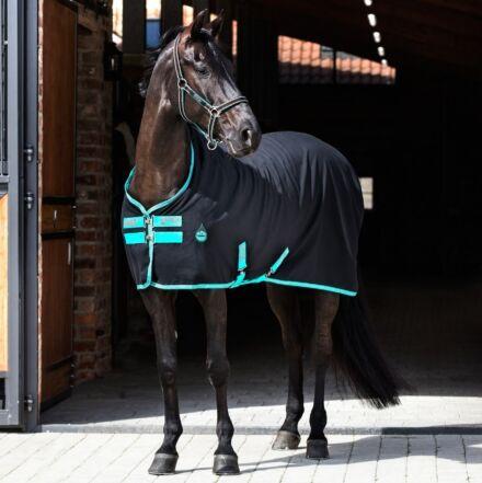 Horseware Amigo Stable Sheet Black/Teal
