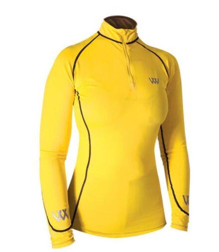 Woof Wear Performance Riding Shirt-Sunshine Yellow