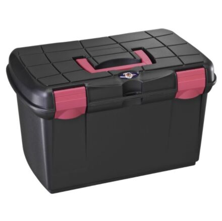 Tack Box - Medium Black/Pink