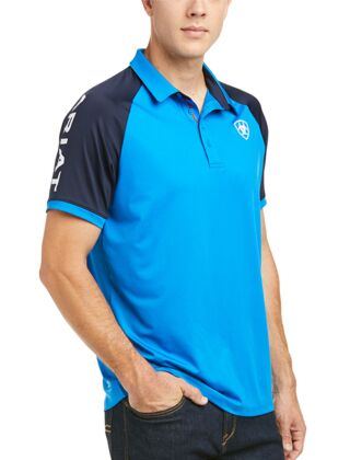 Ariat Men's Team 3.0 Polo Imperial Blue