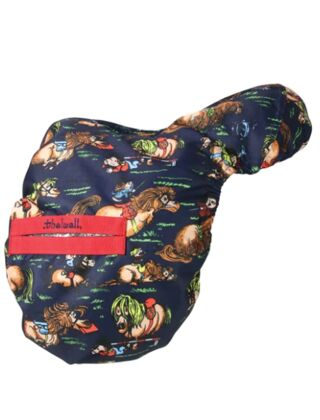 Hy Thelwell Saddle Cover Navy/Red
