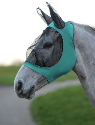 Weatherbeeta Stretch Eye Saver with Ears- Turquoise/Black