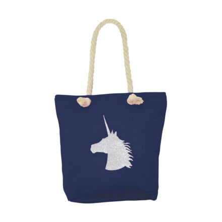 Hy Fashion Unicorn Glitter Tote Bag
