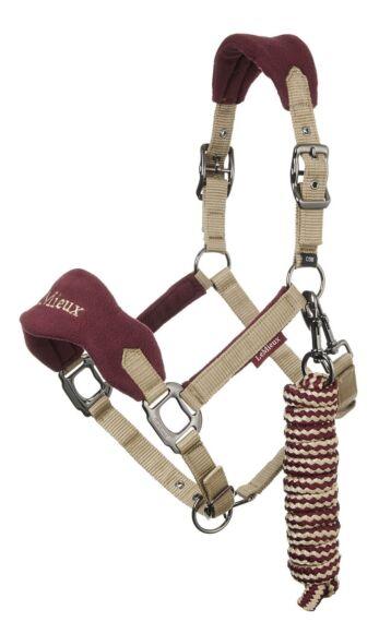 LeMieux Vogue Headcollar & Rope Rioja