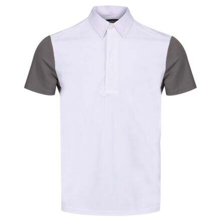 Equetech Men's Waffle Competition Shirt White/Grey