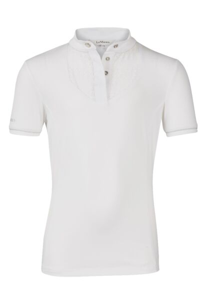 LeMieux Young Rider Belle Show Shirt with Bib White/White