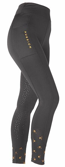 Shires Aubrion Porter Winter Riding Tights Black
