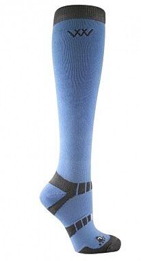 Woof Wear Long Bamboo Waffle Riding Socks Blue/Grey
