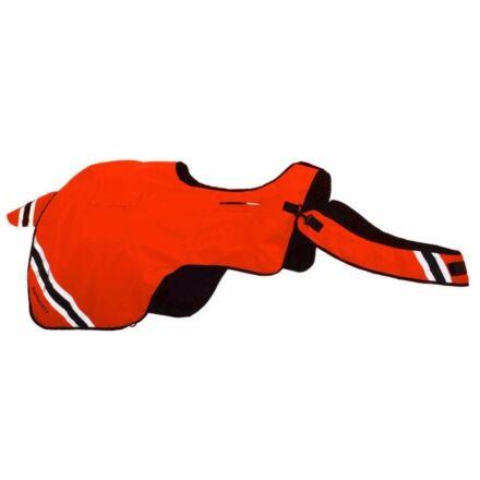 Equisafety Horse Exercise Sheet Wraparound Rug- Red/Orange