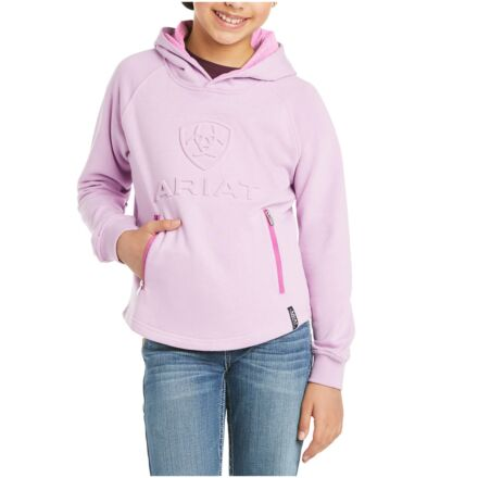 Ariat Youth 3D Logo Hoodie Violet Tulle