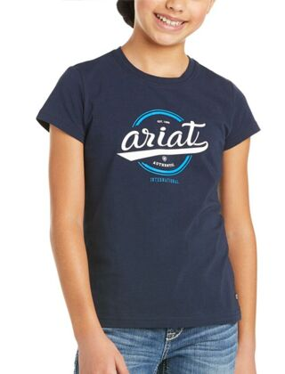 Ariat Youth Authentic Logo T-Shirt Navy