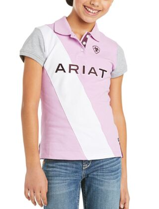 Ariat Youth Taryn Polo Violet Tulle