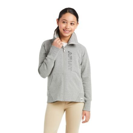 Ariat Youth Team Logo Sweatshirt Heather Grey