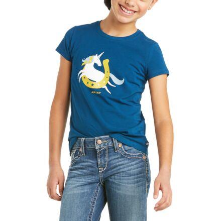 Ariat Youth Unicorn Moon T-Shirt Blue Opal