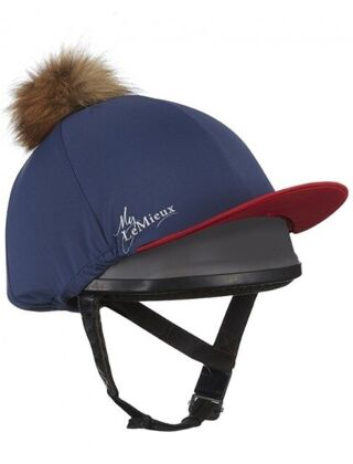 Le Mieux Hat Silk Navy/ Red