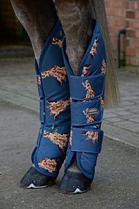 Weatherbeeta 1200D Wide Tab Long Travel Boots- Giraffe Print