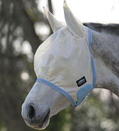 Weatherbeeta Comfitec Essential Mesh Mask - Taupe/Light Blue/Taupe