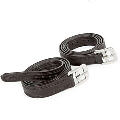 Shires Easy Care Non-Stretch Stirrup Leathers Black