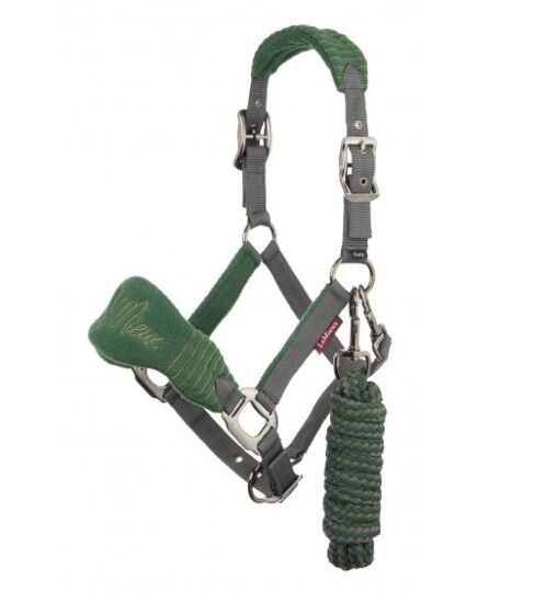 LeMieux Vogue Fleece Head Collar Hunter Green